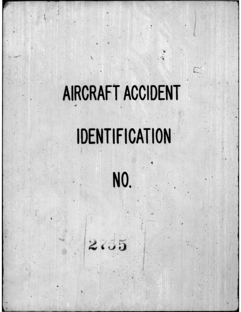 Incident Repont May 1953 front page