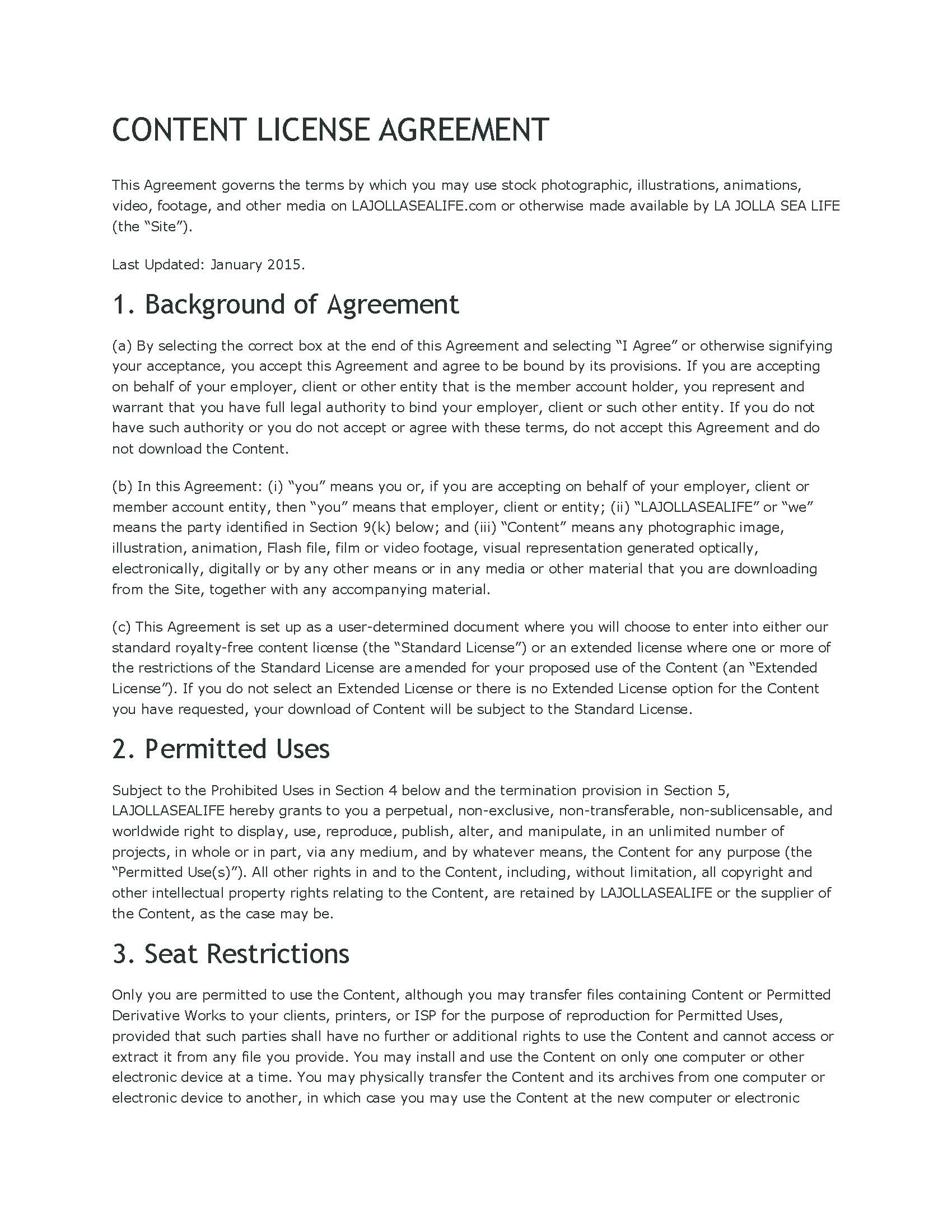 CONTENT LICENSE AGREEMENT PAGE ONE_Page_1